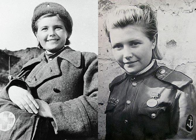 Пятнадцатилетняя девушка - легенда из морской пехоты