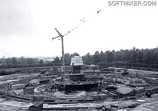 Строительство Останкинской телебашни