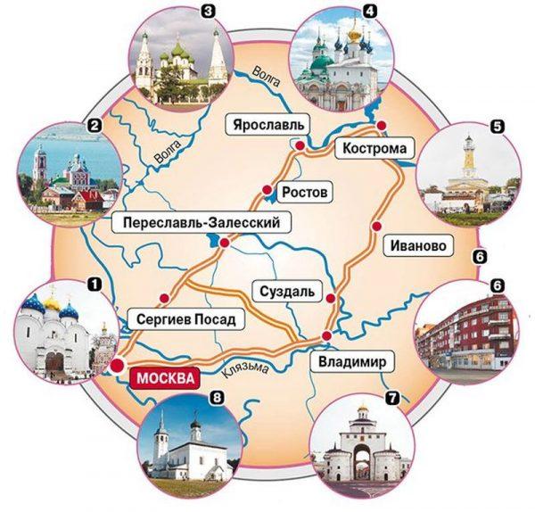 Золотое кольцо России: сколько городов в него входит?