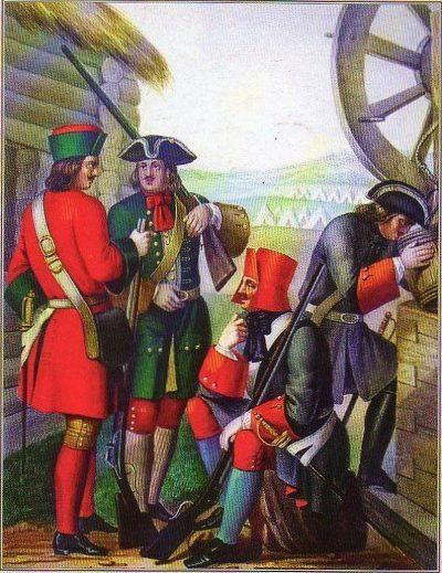 Как царь Петр мужиков в солдаты брил