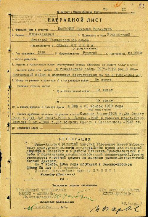 Полководцы России. Адмирал Басистый