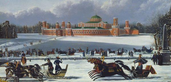 «Вот, окружен своей дубравой, Петровский замок»
