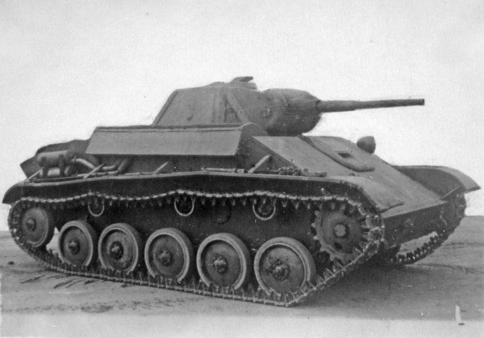 Поверхностная модернизация лёгкого танка