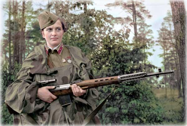 Черно-белые фотографии в цвете героев Великой Отечественной войны