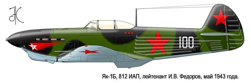 Лётчик - истребитель Иван Фёдоров