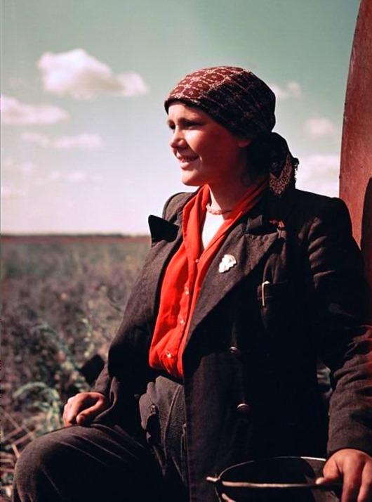 Цветные фотографии 50-х годов