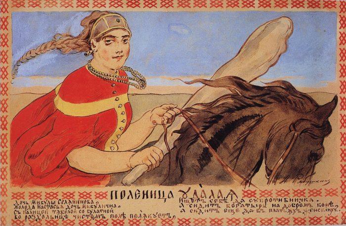Женщины-богатырши в русских былинах