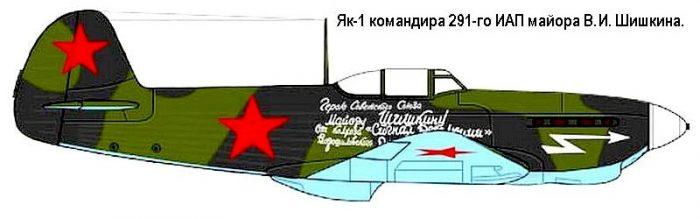 Лётчик - ас Василий Иванович Шишкин