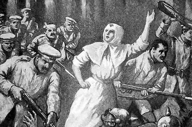 Как сестра милосердия подняла солдат в атаку