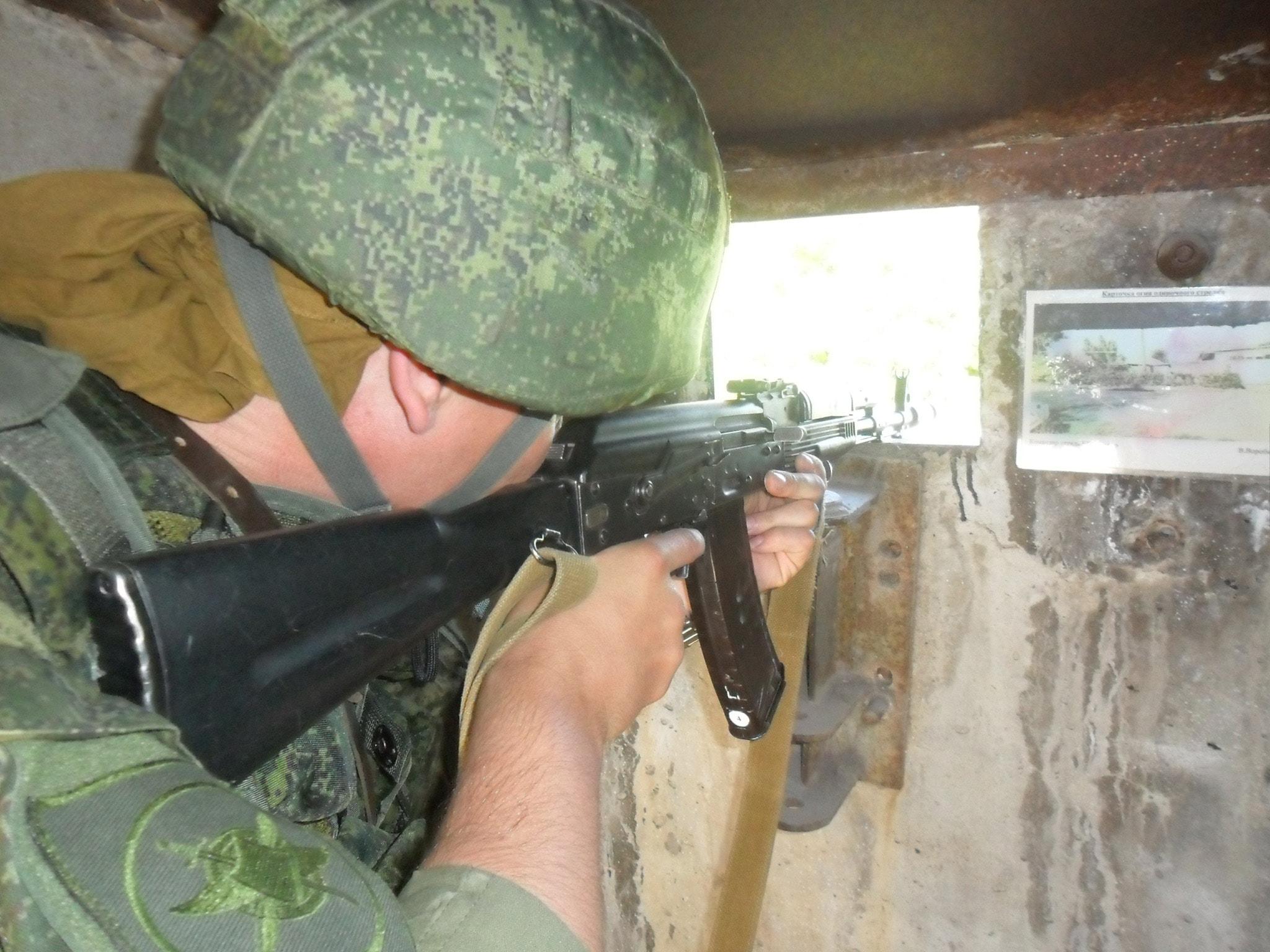Тренировка с подразделением антитеррора на авиационной базе ОДКБ «Кант
