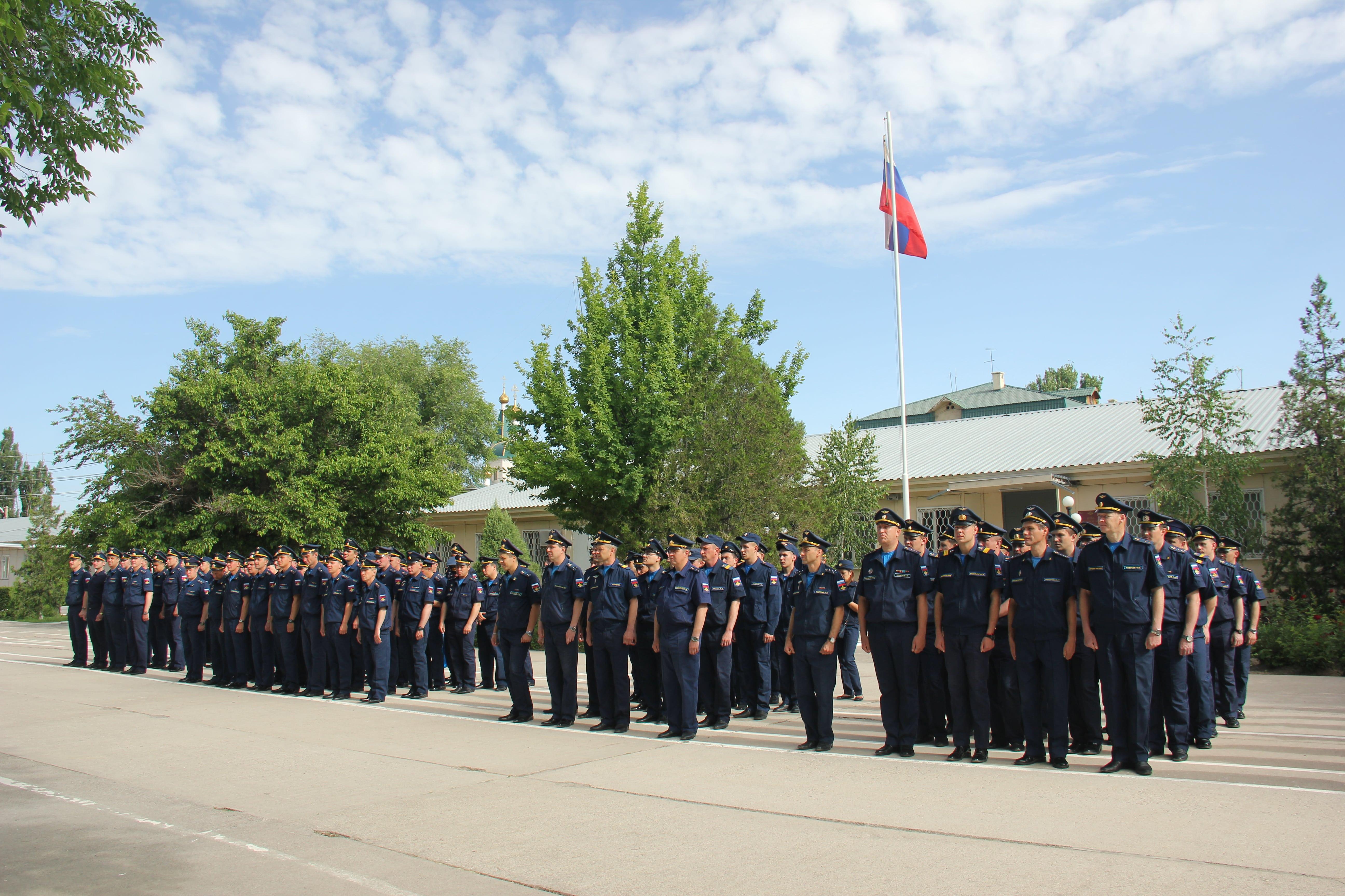 На авиационной базе ОДКБ «Кант» состоялся митинг, посвященный началу летнего периода обучения