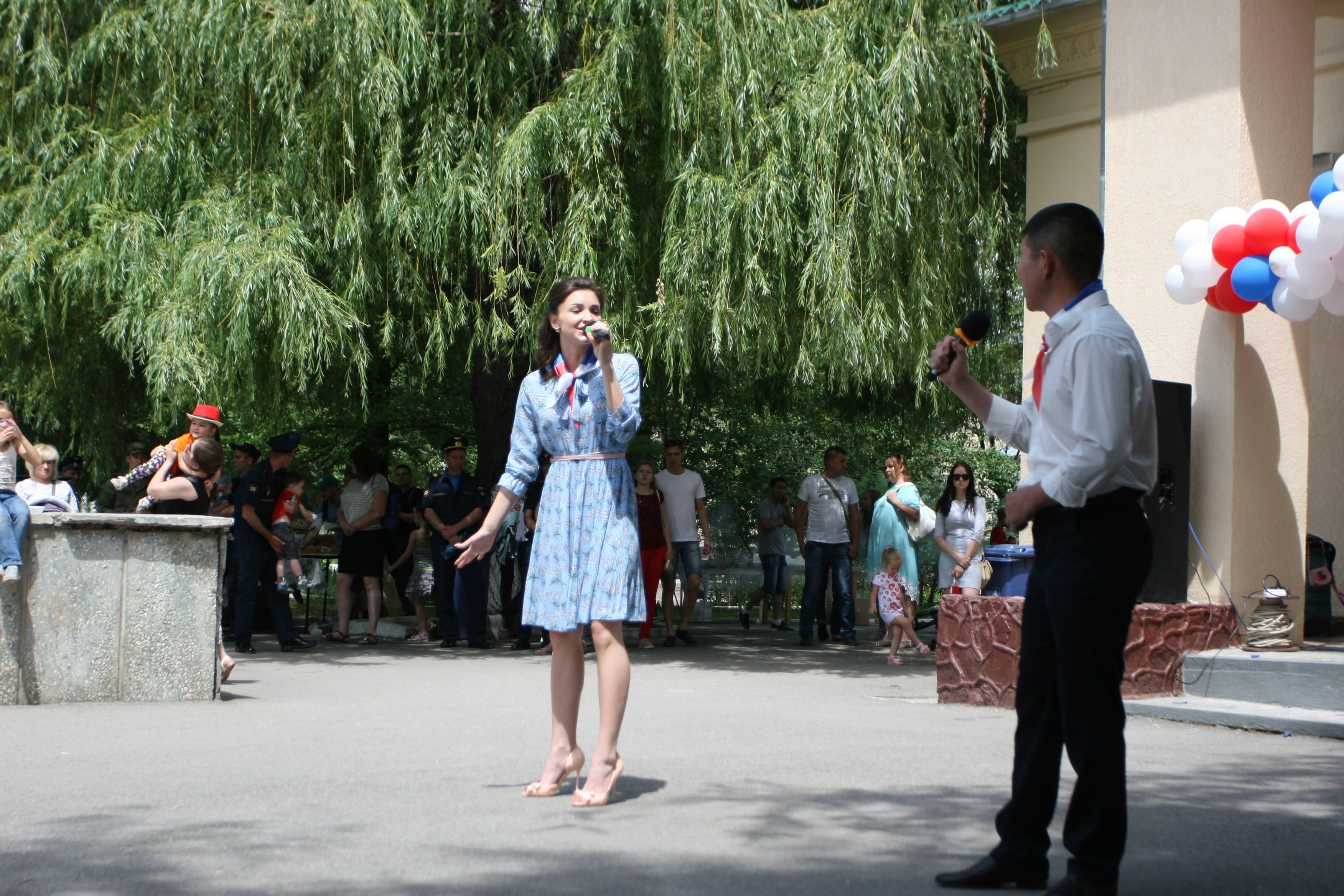 На авиационной базе ОДКБ «Кант» прошел концерт, посвященный Дню России