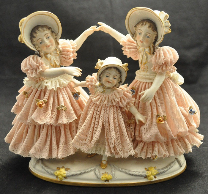 Дрезденские «кружевницы».Фарфоровые куклы