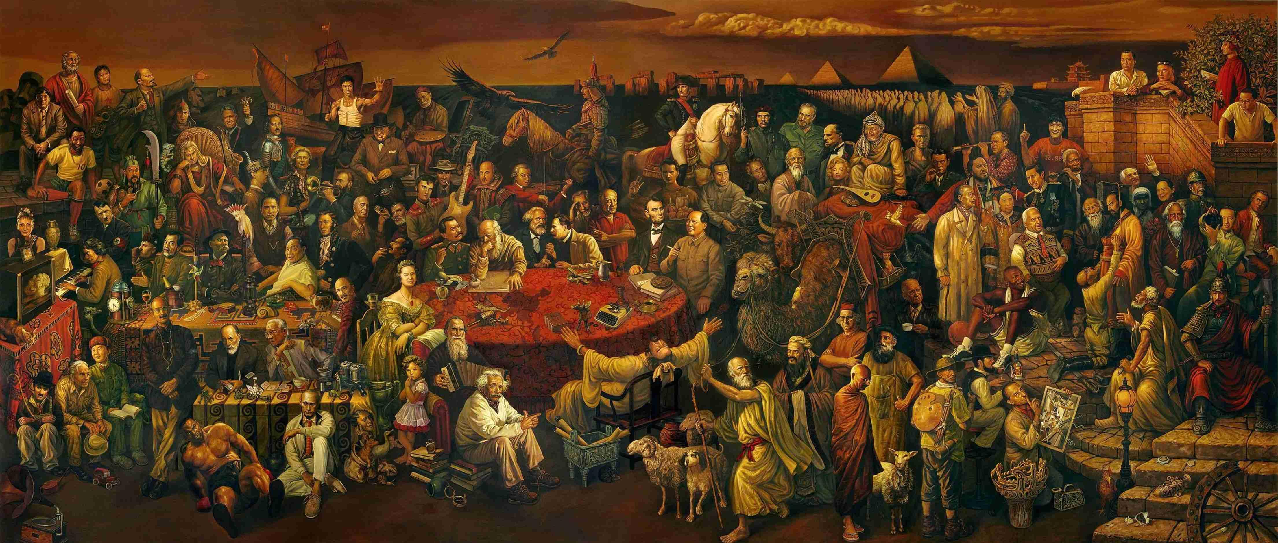 Сколько знаменитых людей вы узнаете на этой картине?