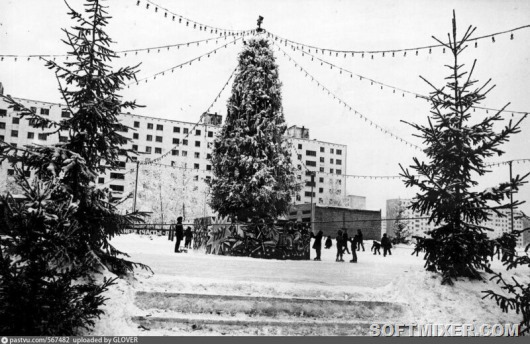 Новогодние елки в городах СССР
