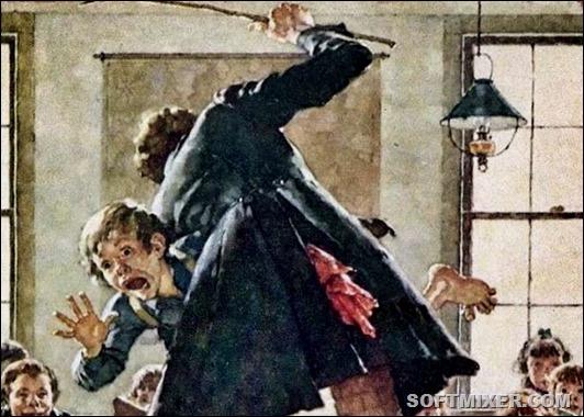 Как наказывали детей на Руси: ложки, розги, горох…