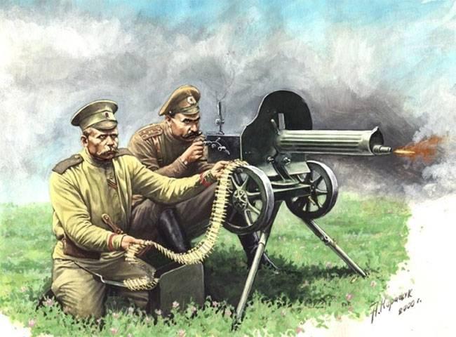 Туркестанские офицеры-пулемётчики