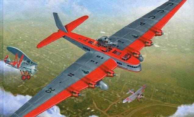 Летчик Благин сплоховал и уничтожил свой же самолет-гигант «М.Горький»